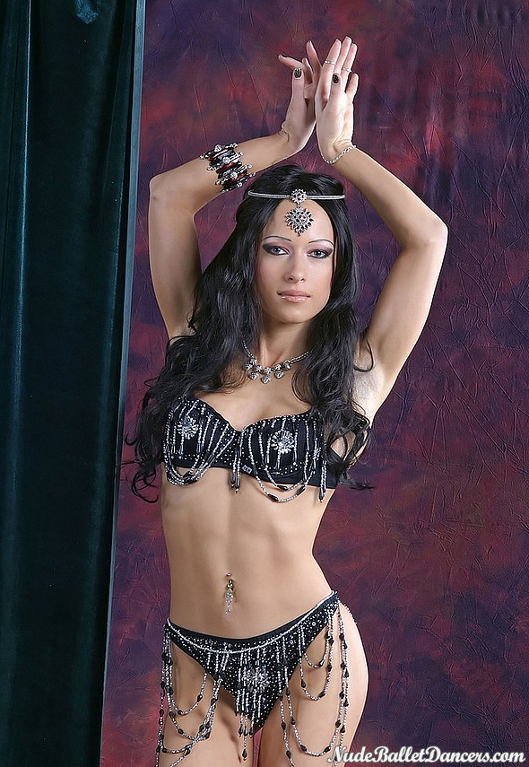 Sexy nude belly dance